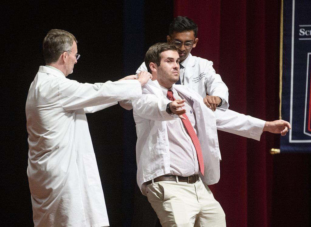 Blake Freeman receives his white coat